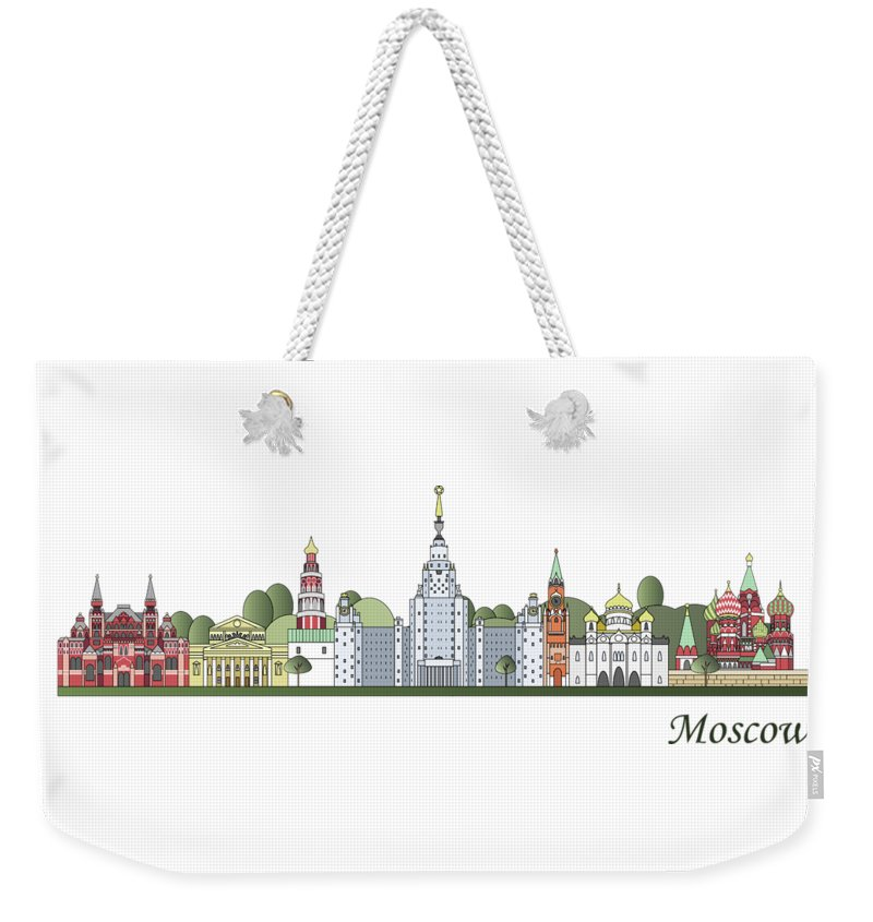 Moscow Skyline Weekender Tote Bags