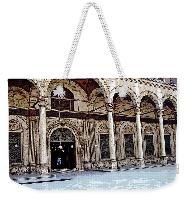 Cairo Weekender Tote Bag featuring the photograph Mosque Of Muhammad Ali Entrance by Debbie Oppermann