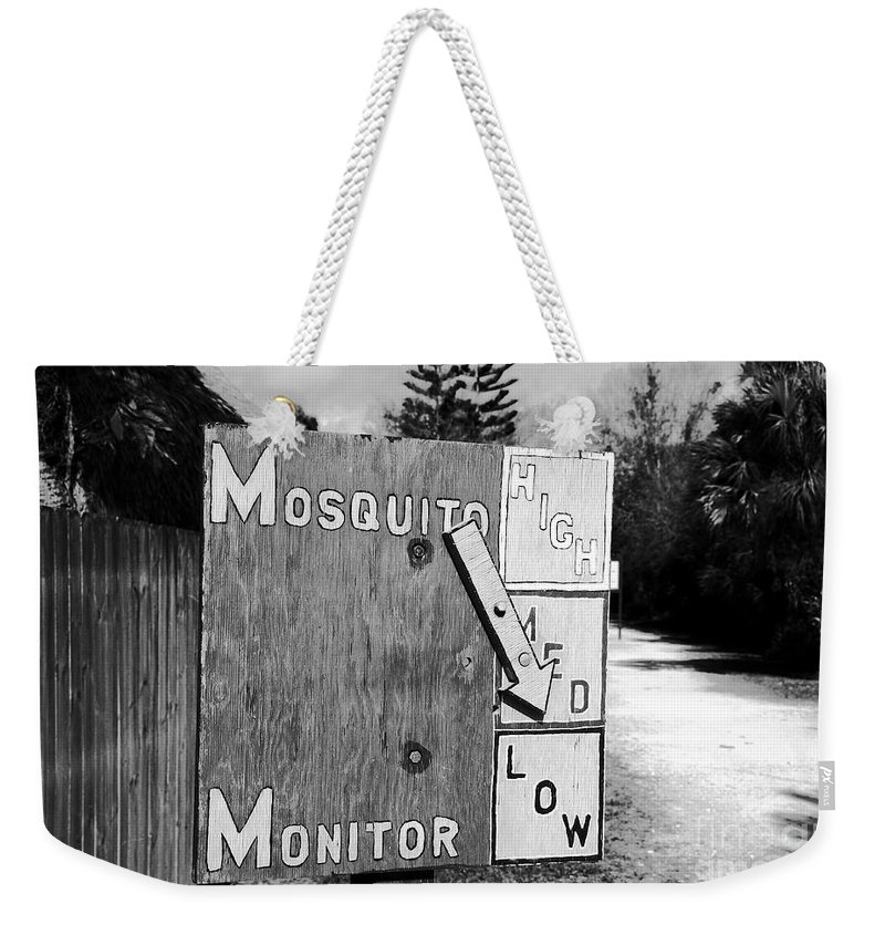 Mosquito Weekender Tote Bag featuring the photograph Mosquito Monitor by David Lee Thompson