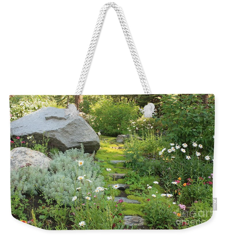 Mossy Path Weekender Tote Bag featuring the photograph Mossy Path In Tahoe by Carol Groenen