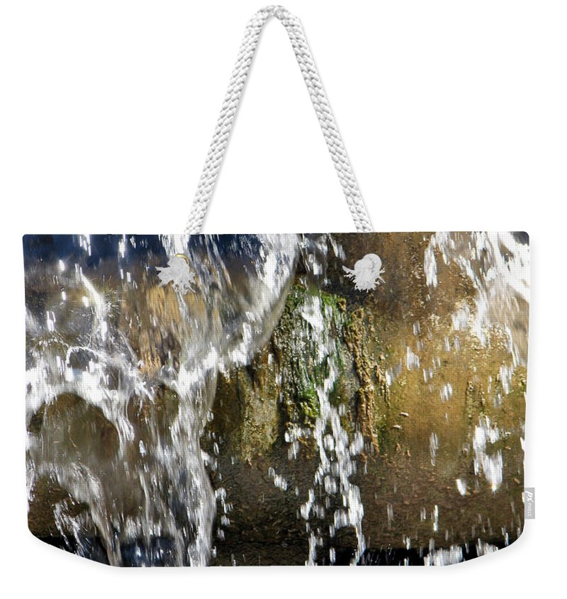 Mossy Pipes Weekender Tote Bag featuring the photograph Mossy Pipes by Lisa S Baker