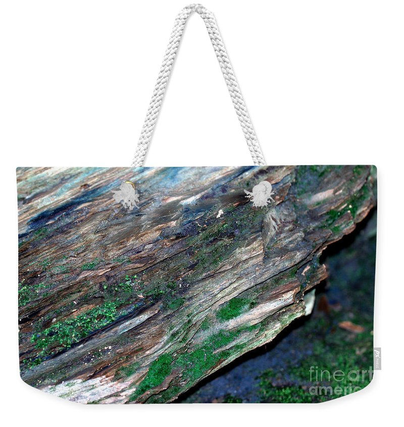 Kooldnala Weekender Tote Bag featuring the photograph Mossy Rock by Alan Look