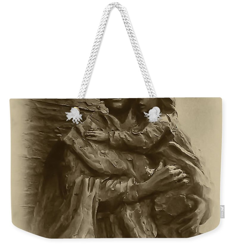 Philadelphia Weekender Tote Bag featuring the photograph Mother And Child by Bill Cannon