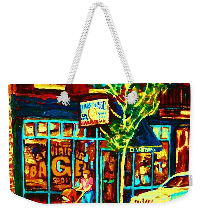 St Weekender Tote Bag featuring the painting Mother And Child by Carole Spandau