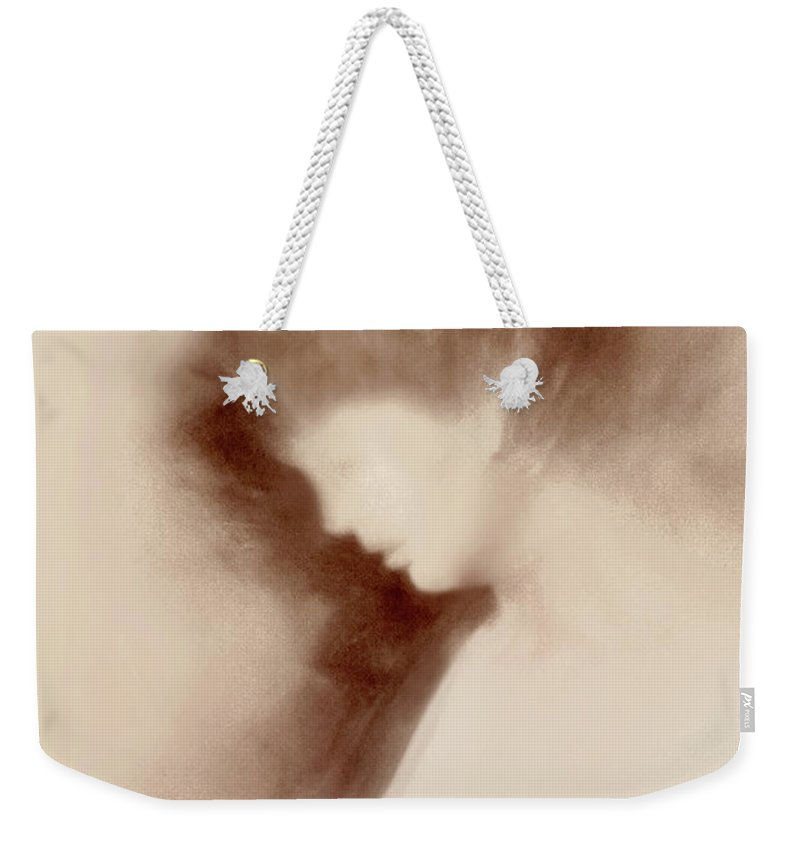 Impressionism Weekender Tote Bag featuring the photograph Mother And Child Impressionism by Regina Geoghan