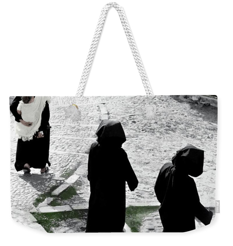 Weekender Tote Bag featuring the photograph Mother And Child by Mark Alesse