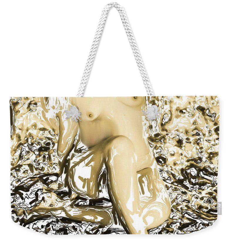 Female Weekender Tote Bag featuring the digital art Mother Earth by Jean Hall
