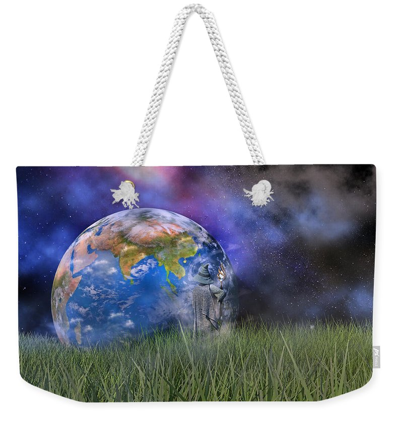 Wizard Weekender Tote Bag featuring the digital art Mother Earth Series Plate4 by Betsy Knapp