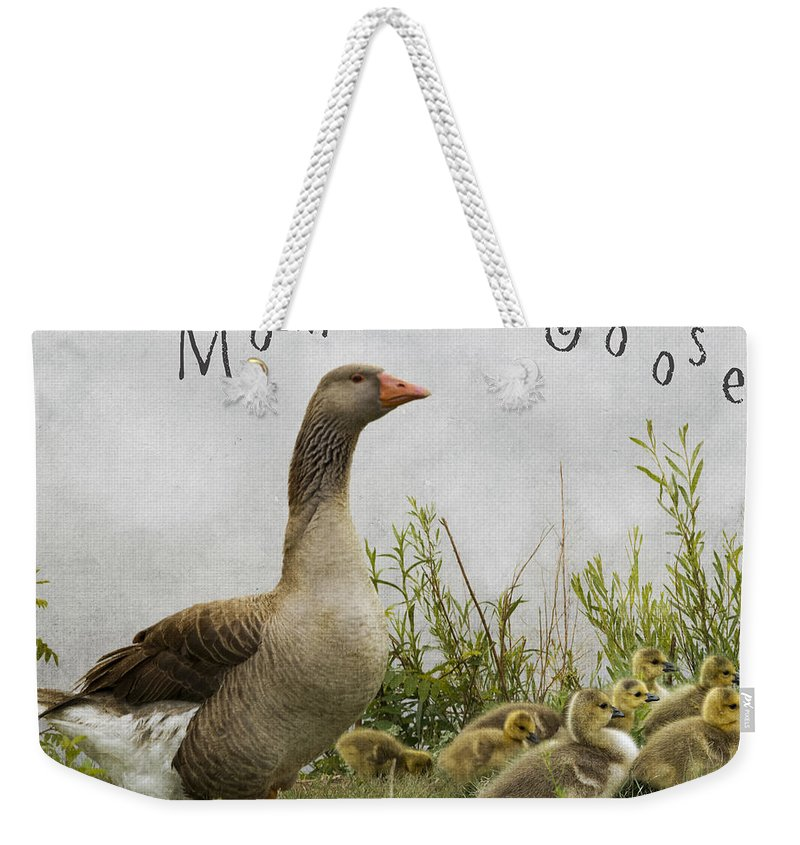 Mother Goose Weekender Tote Bag featuring the photograph Mother Goose by Juli Scalzi