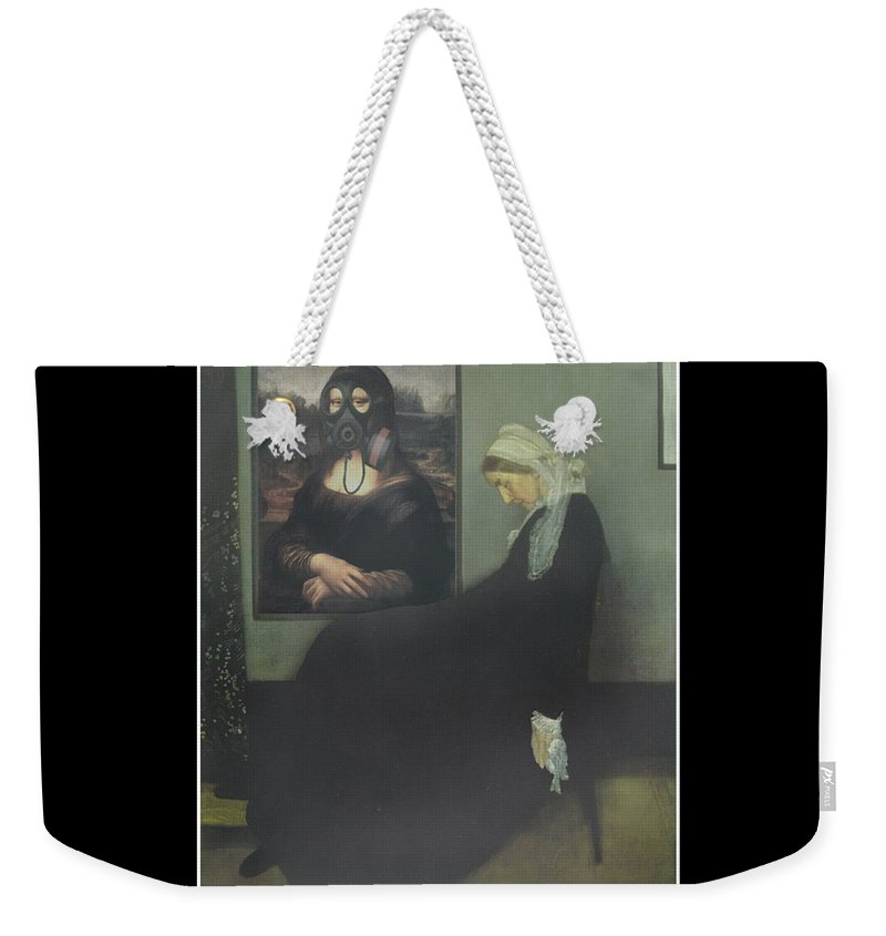 Davinci Weekender Tote Bag featuring the painting Mother Got Gassed by Gravityx9 Designs