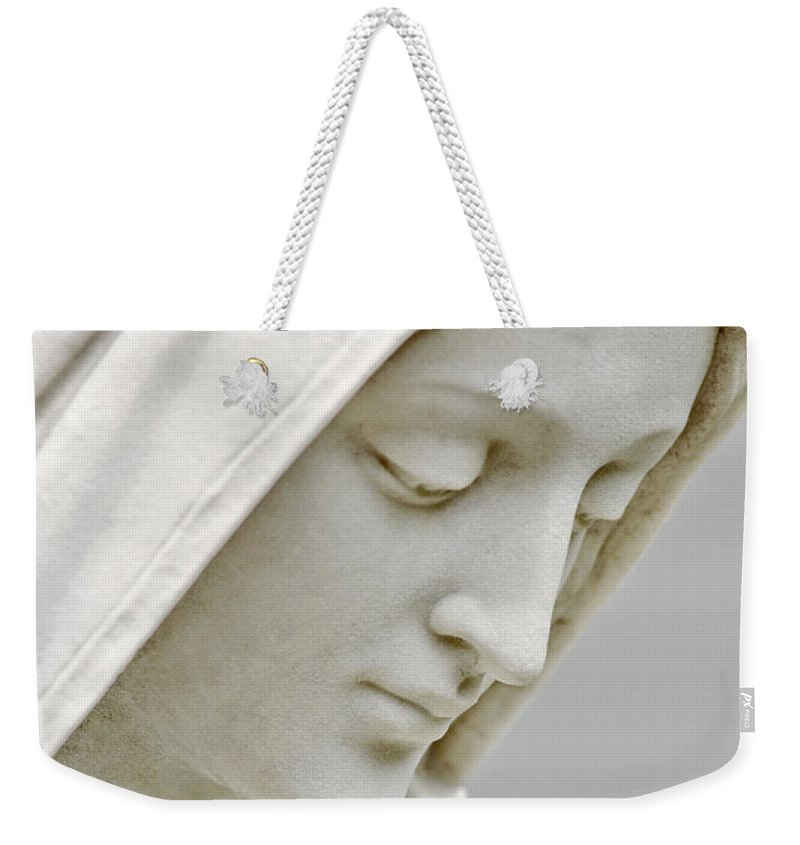 Statue Weekender Tote Bag featuring the photograph Mother Mary Comes To Me... by Greg Fortier