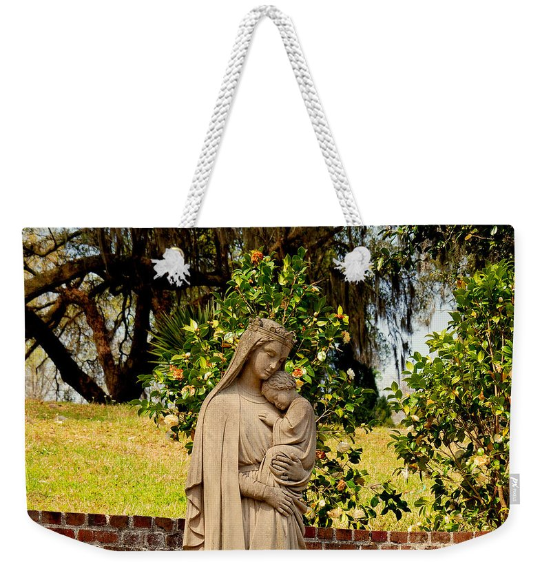 Holy Mary And Child Weekender Tote Bag featuring the photograph Mother Mary by Susanne Van Hulst