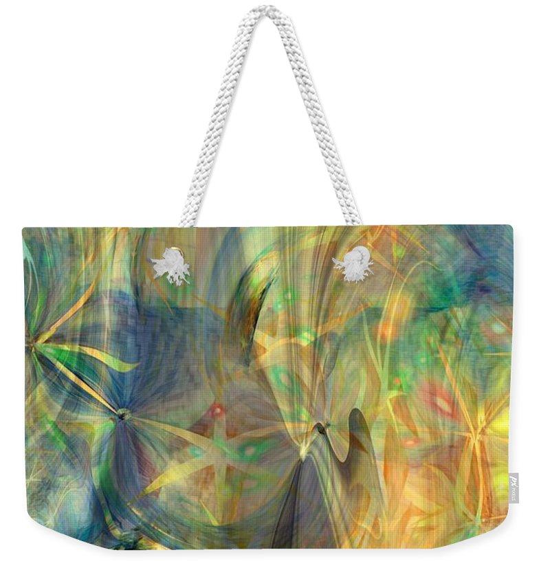 Abstarct Art Weekender Tote Bag featuring the digital art Mother Of Angels by Linda Sannuti