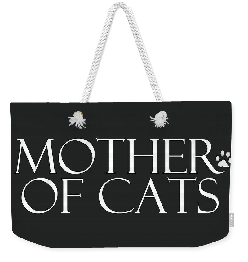 Cat Weekender Tote Bag featuring the digital art Mother of Cats- by Linda Woods by Linda Woods