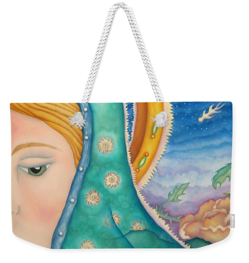 Texas Weekender Tote Bag featuring the painting Mother Of My Soul by Jeniffer Stapher-Thomas