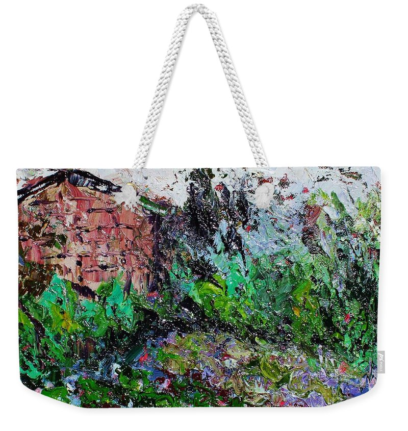 Garden Paintings Weekender Tote Bag featuring the painting Mother by Seon-Jeong Kim