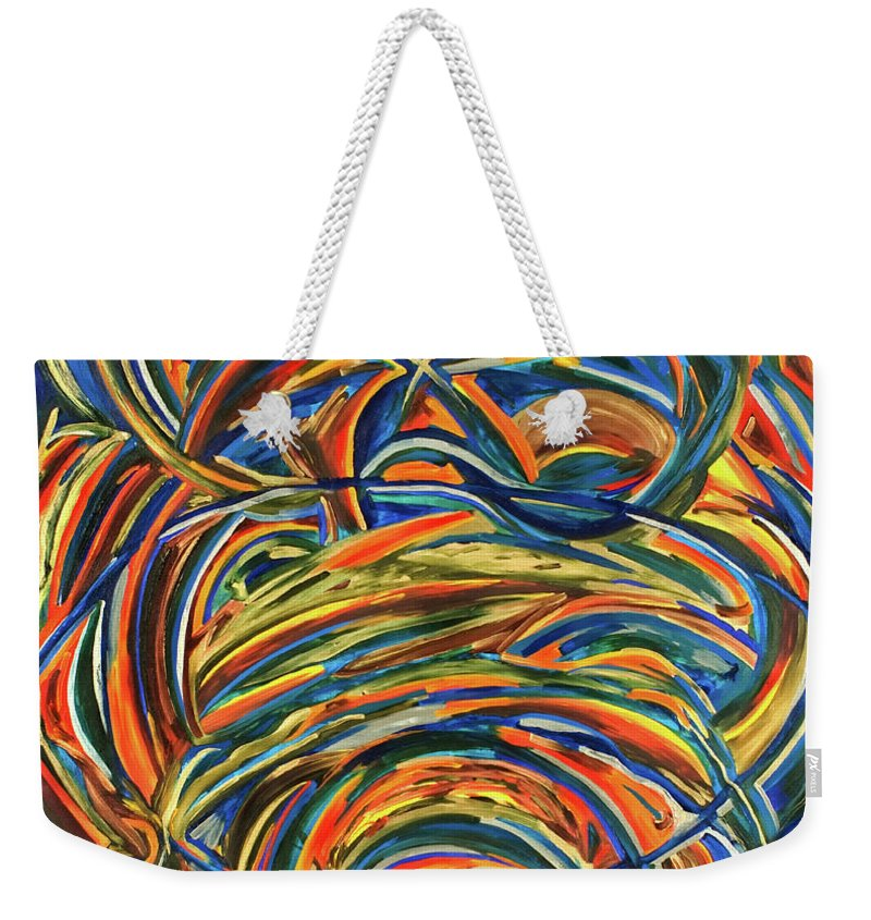 Abstract Weekender Tote Bag featuring the painting Mother Sophia by Gretchen Dreisbach