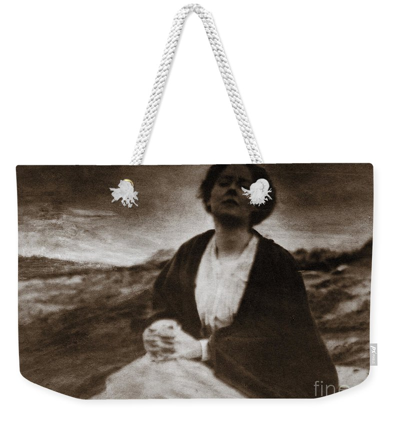 1904 Weekender Tote Bag featuring the photograph Motherhood by Granger