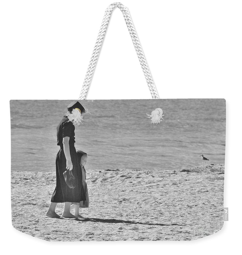 Footsteps Weekender Tote Bag featuring the photograph Mother's Child 2 by Lisa Renee Ludlum