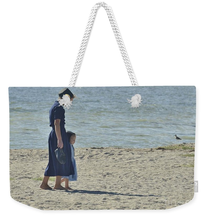 Footsteps Weekender Tote Bag featuring the photograph Mother's Child by Lisa Renee Ludlum