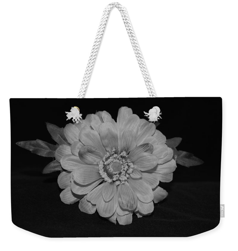 Black And White Weekender Tote Bag featuring the photograph Mothers Day Flower by Rob Hans