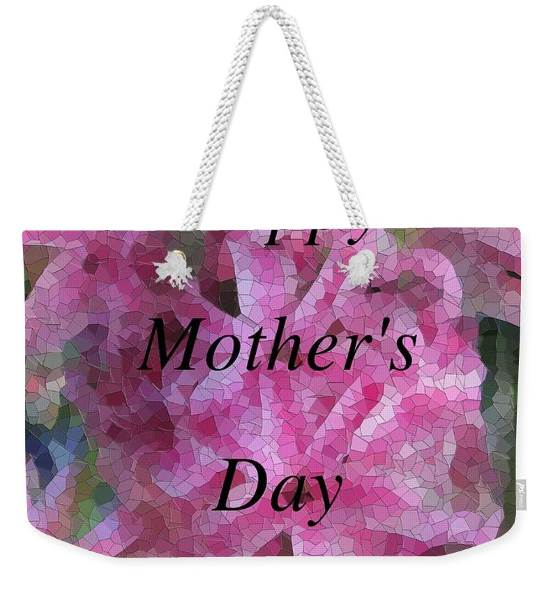 Flowers Weekender Tote Bag featuring the digital art Mother's Day Pretty In Pink by Tim Allen