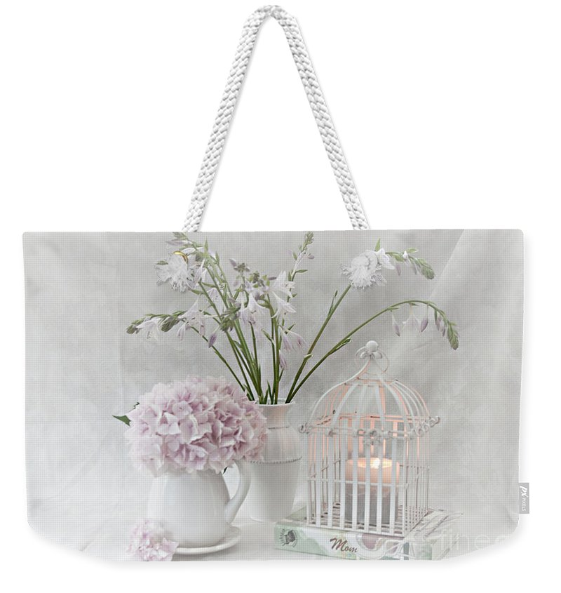 Still Life Weekender Tote Bag featuring the photograph Mother...tell Me Your Memories by Sherry Hallemeier