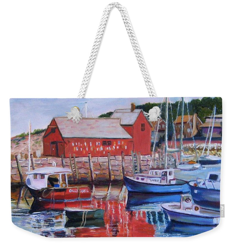 Rockport Weekender Tote Bag featuring the painting Motif Number One by Richard Nowak