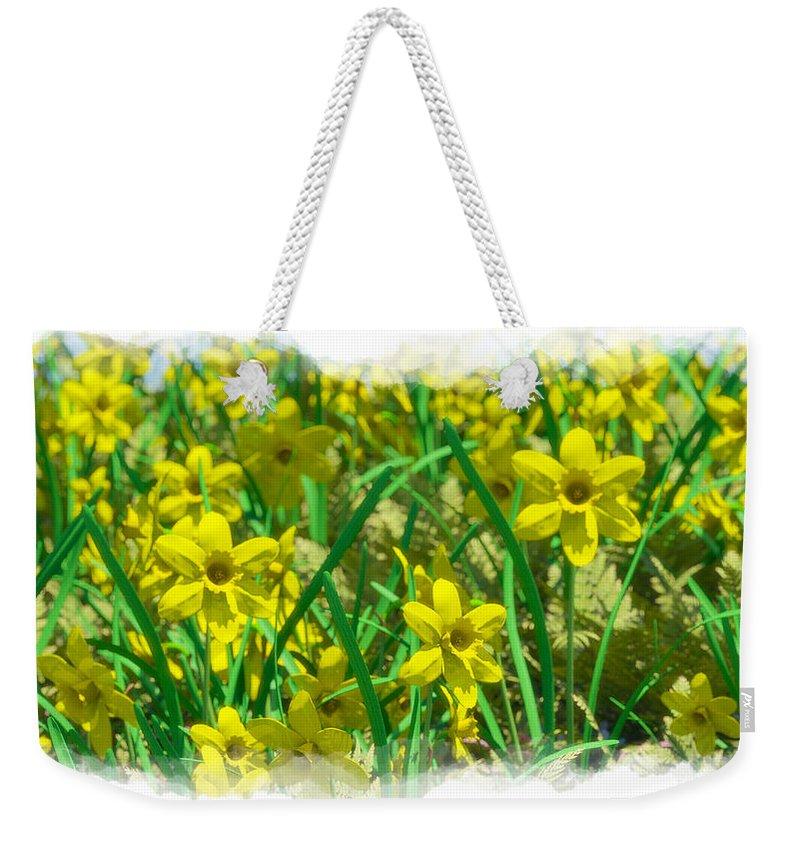 Flowers Weekender Tote Bag featuring the digital art Mound Of Flowers... by Tim Fillingim