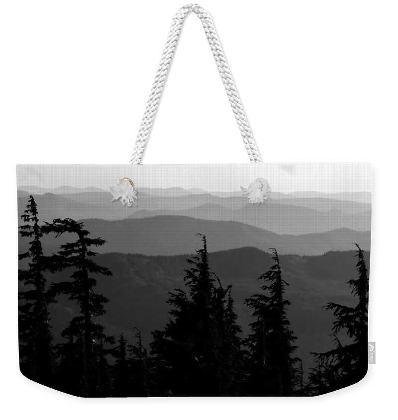 Mount Hood National Forest Weekender Tote Bag featuring the photograph Mount Hood National Forest by David Lee Thompson