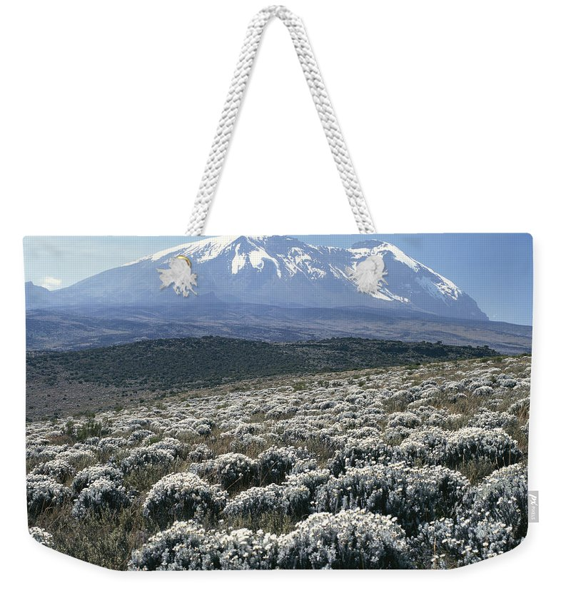 Africa Weekender Tote Bag featuring the photograph Mount Kilimanjaro, The Breach Wall by David Pluth
