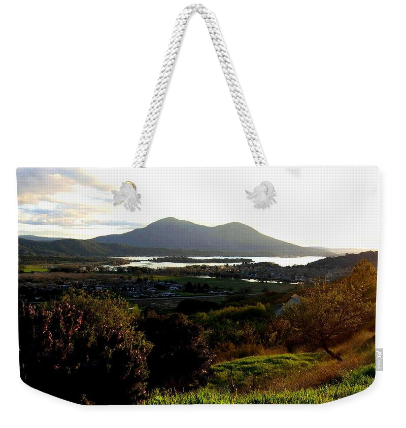 Mount Konocti Weekender Tote Bag featuring the photograph Mount Konocti by Will Borden