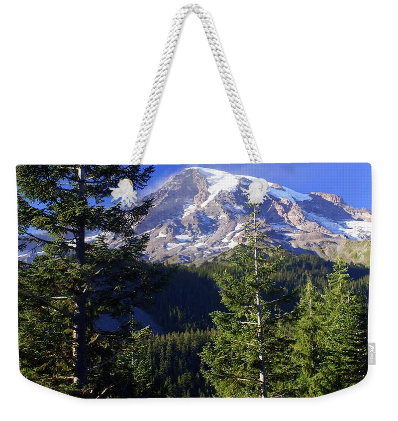 Mount Raineer Weekender Tote Bag featuring the photograph Mount Raineer 1 by Marty Koch