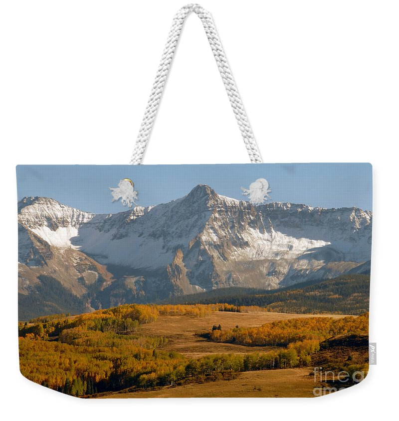 Mount Sneffels Weekender Tote Bag featuring the photograph Mount Sneffels by David Lee Thompson