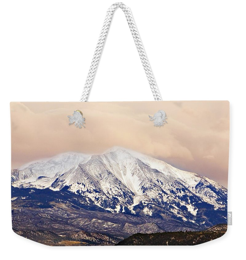 Americana Weekender Tote Bag featuring the photograph Mount Sopris by Marilyn Hunt