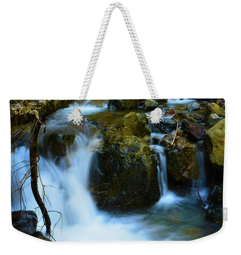 Water Weekender Tote Bag featuring the photograph Mount Tam Waterfall by Christine Dorfer
