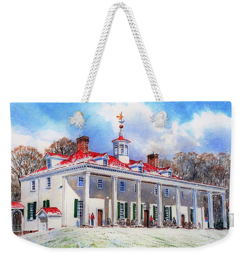 Mount Vernon Weekender Tote Bag featuring the painting Mount Vernon After The Squall by Tom Harris