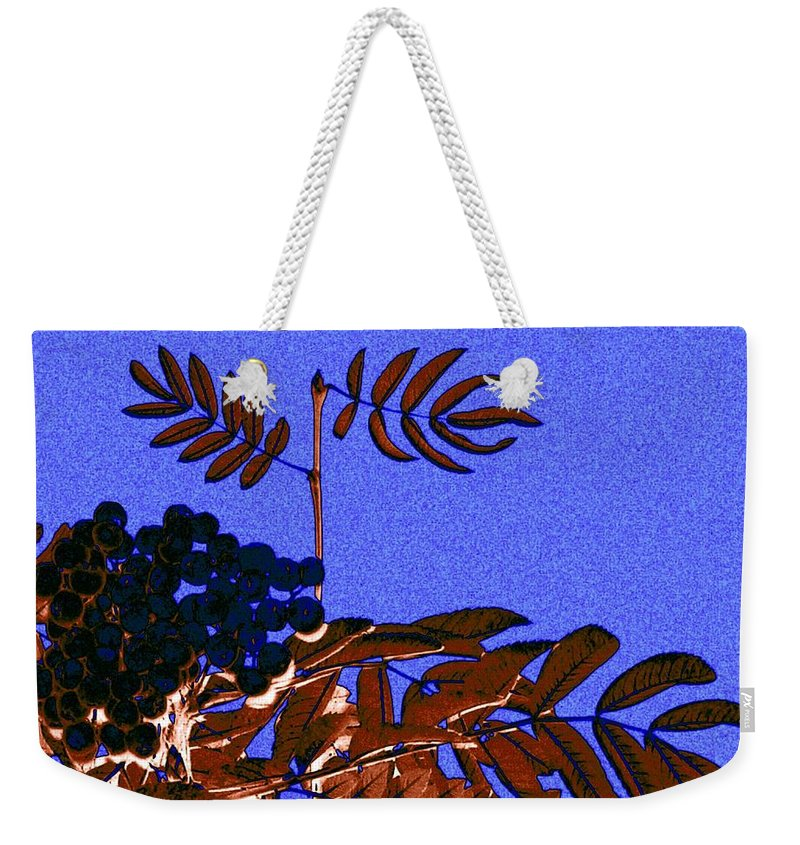 Abstract Weekender Tote Bag featuring the digital art Mountain Ash Design by Will Borden
