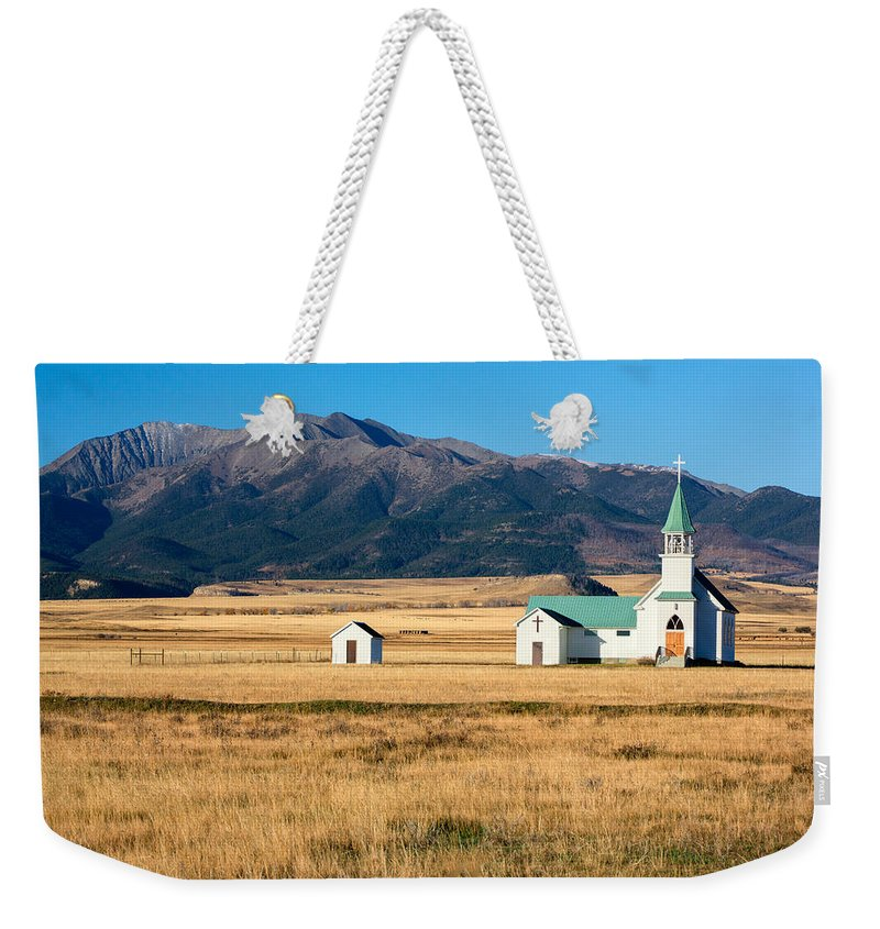 Church Weekender Tote Bag featuring the photograph Mountain Chapel by Todd Klassy