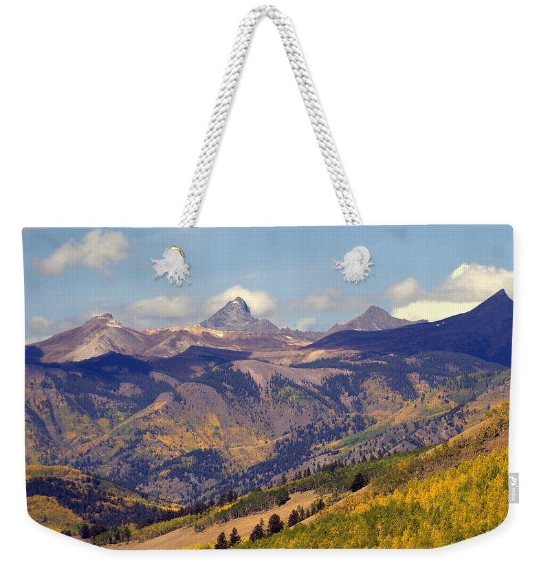 Mountains Weekender Tote Bag featuring the photograph Mountain Splendor 2 by Marty Koch