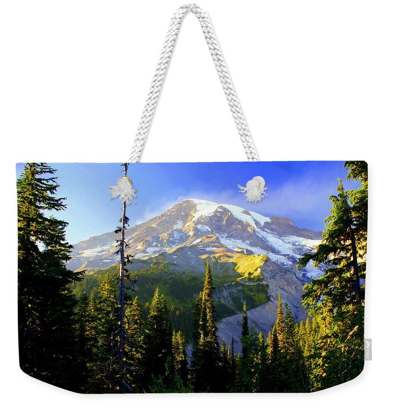Mountain Weekender Tote Bag featuring the photograph Mountain Sunset by Marty Koch