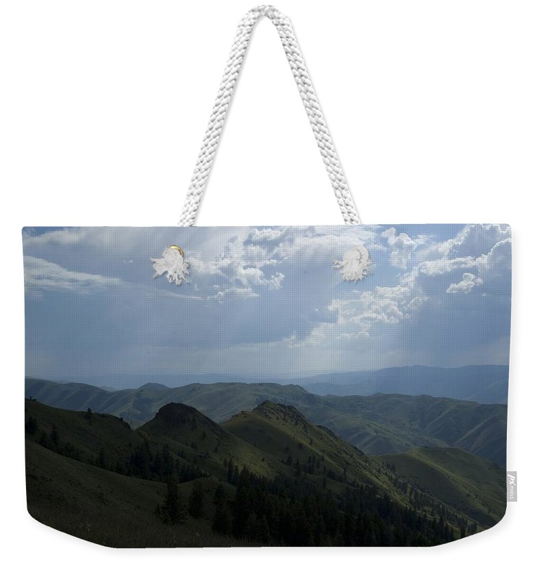 Mountain Weekender Tote Bag featuring the photograph Mountain Top 2 by Sara Stevenson