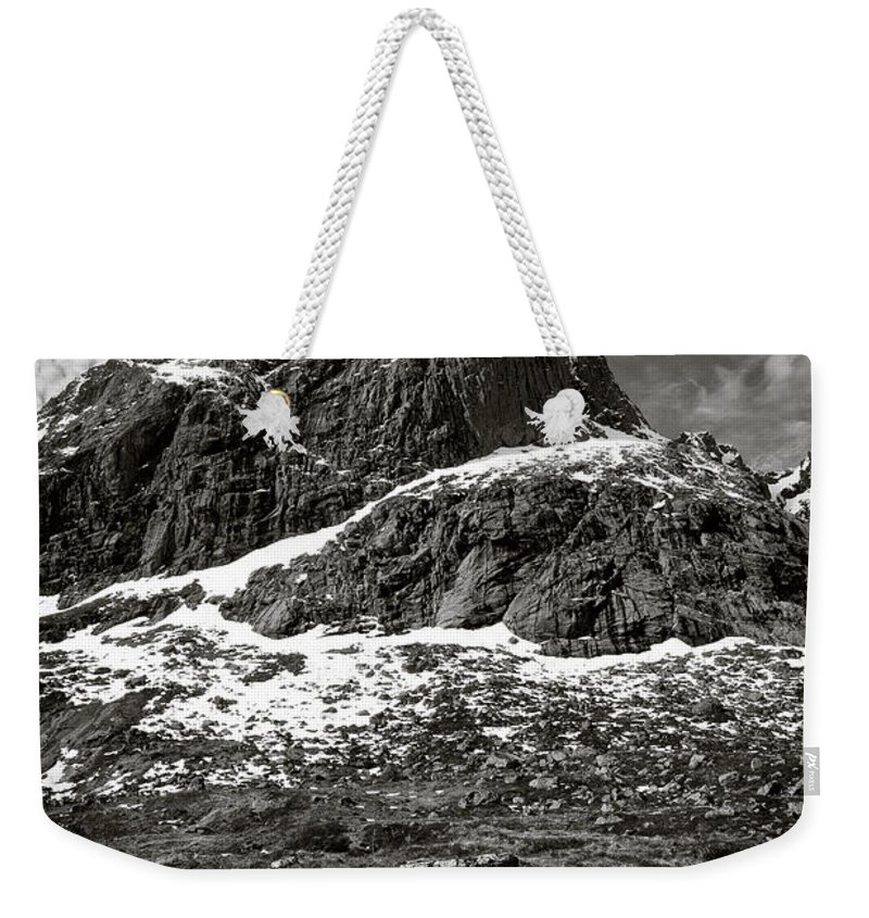Mountains Weekender Tote Bag featuring the photograph Mountain Track by Dave Bowman
