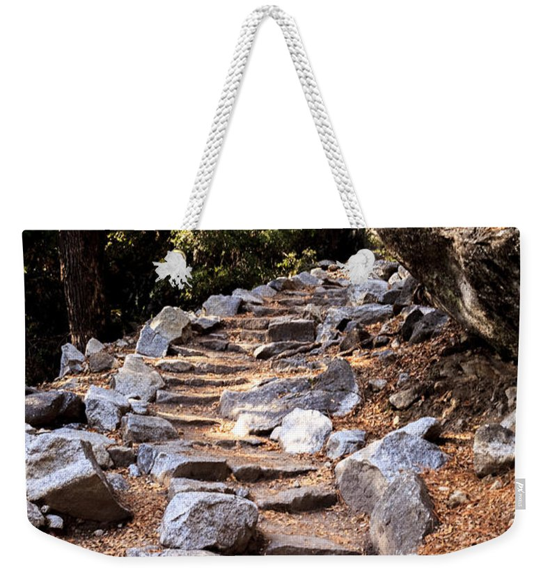 Trail Weekender Tote Bag featuring the photograph Mountain Trail by Alexander Fedin