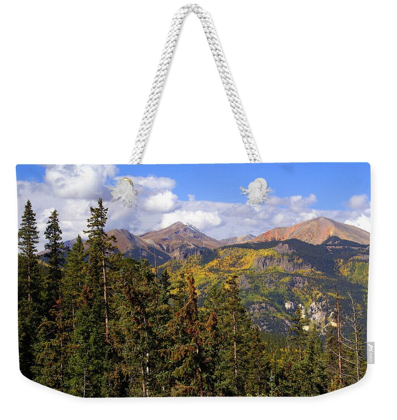 Colorado Weekender Tote Bag featuring the photograph Mountains Aglow by Marty Koch