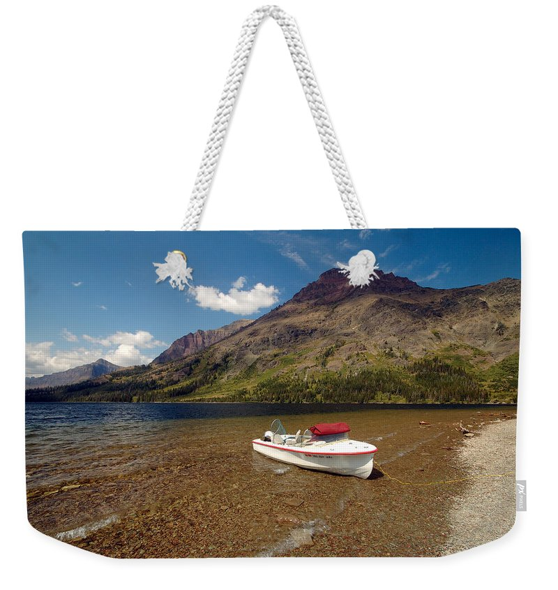 Moutains Weekender Tote Bag featuring the photograph Moutain Lake by Sebastian Musial