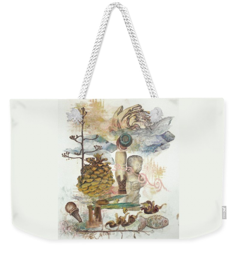 Abstract Weekender Tote Bag featuring the painting Move Along by Valerie Meotti