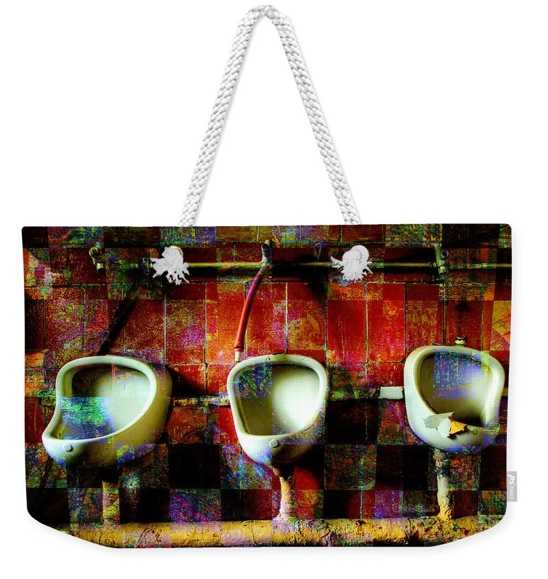 Marcel Duchamp Weekender Tote Bag featuring the digital art Move Over Marcel by Barbara Berney