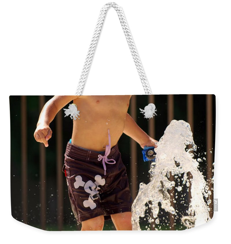 Kid Weekender Tote Bag featuring the photograph Movement Contest 3 by Jill Reger