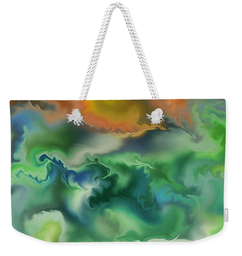 Abstract Weekender Tote Bag featuring the painting Movement Of The Natural World by Deborah Benoit